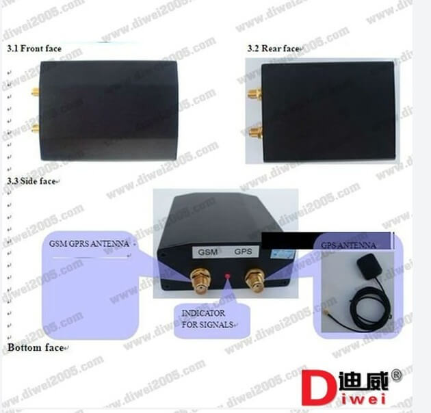 Strong signal External antenna vehicle gps tracker tk103