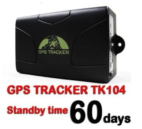 TK104 gps tracker on car Real-time tracking Movement alarm function