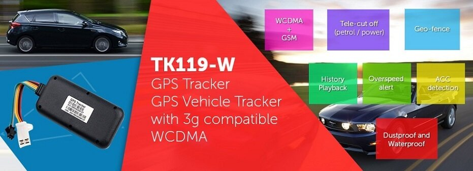 2016 new 3g network gps tracker with 3G sim, 3G car tracker, Wat
