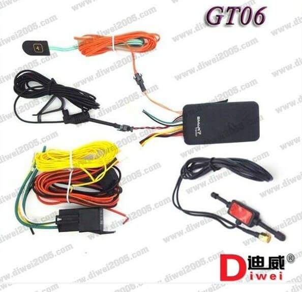 GPS vehicle Tracker GT06 Built-in vibration sensor