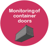 Monitoring of container doors