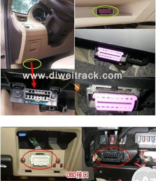OT08 OBDII OBD2 Vehicle Car truck gps tracker with OBDII Connector