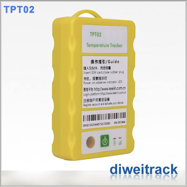 TPT02 cold chain gps temperature monitoring devices for refrigerated truck temperature monitor
